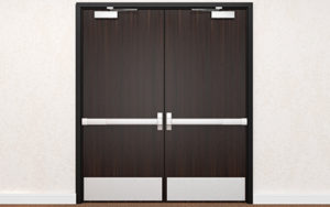 Fire Rated Solid Core Wood Doors for Commercial Use