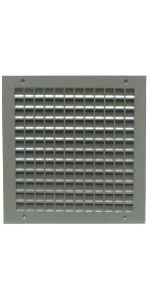 1900ASG Adjustable Fire Rated Louver Security Door Vent Insert For Commercial Doors