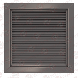 600 Series Steel Louver Door Insert With Inverted V Blades