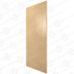 Plain Sliced White Maple Door