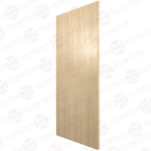 Plain Sliced White Oak Door