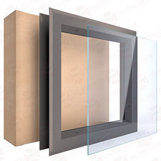 Ceramic Glass Fire Rated Vision Lite Window Kit