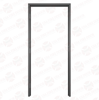 "AL112 Black Anodized Interior Aluminum Door Frames with 1-1/2"" Trim"