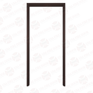 Timely A Series Adjustable Throat Pre-Finished Steel Door Frames, Browntone
