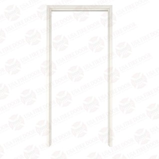Timely A Series Adjustable Throat Pre-Finished Steel Door Frames, Western White