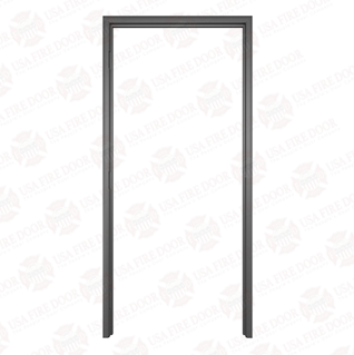 Timely Classic Series Fixed Throat Pre-Finished Steel Door Frames, Black