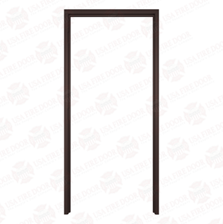 Timely Classic Series Fixed Throat Pre-Finished Steel Door Frames, Browntone