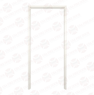 Timely Classic Series Fixed Throat Pre-Finished Steel Door Frames, Western White