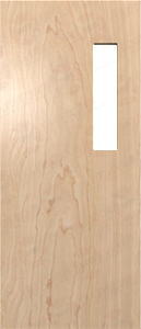 Rotary natural cut wooden door