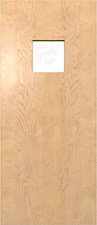 Fire Rated White Birch Door Solid Wood Core Door