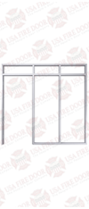Aluminum door Frame two sides