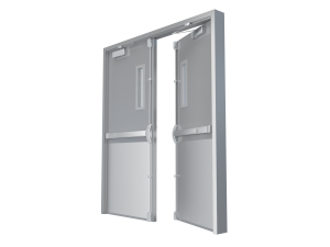 commercial steel double door