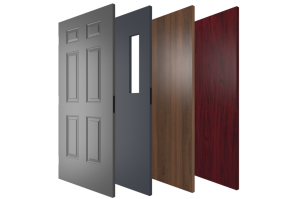 Steel and Wood Commercial Doors