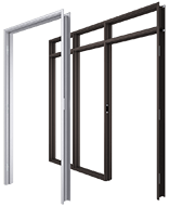 Anodized Aluminum Interior Door Frames