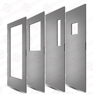 Commercial steel doors with window cut outs